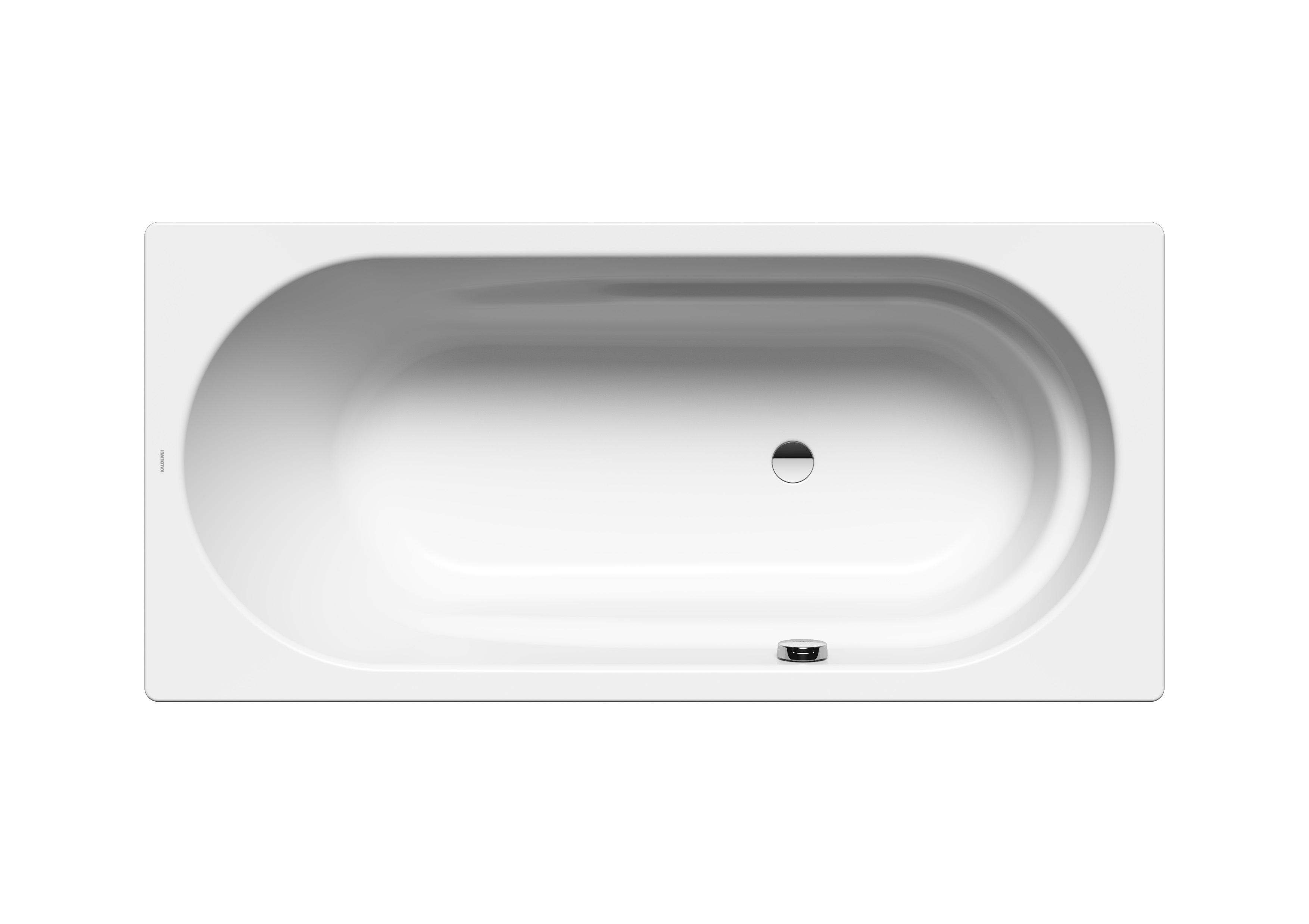 Stahl Badewanne Vaio mit seitlichem Überlauf 20 x 20 cm 20